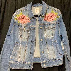 Super soft jean jacket with plain back.
